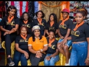 Video: Fans And Stars Took Turn To Take Pictures With Mercy Aigbe As She Launched Her New Boutique In Ibadan